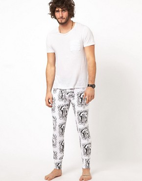 Image 4 ofJack &amp; Jones Indian Skull Long Johns