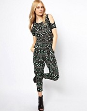 b + ab Aztec Print Jumpsuit