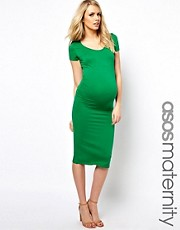 ASOS Maternity Exclusive Body-Conscious Midi Dress With Cap Sleeve