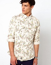 Vivienne Westwood Anglomania for Lee Shirt Miltary Floral Twill