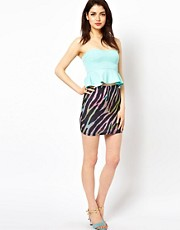 Oh My Love Zebra Mini Skirt