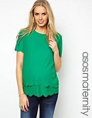 ASOS Maternity Top With Double Scallop