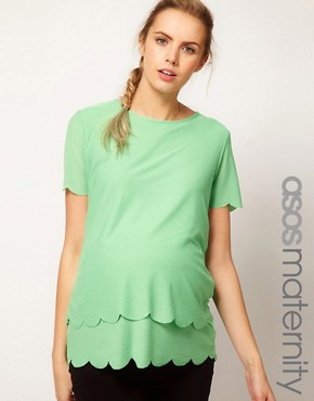 Image 1 ofASOS Maternity Top With Double Scallop