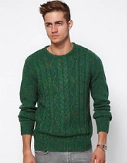 ASOS Cable Jumper In Nepp Yarn