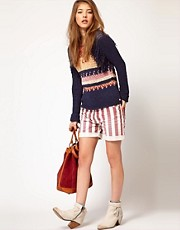 Maison Scotch Stiped Shorts