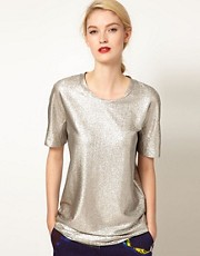 Ostwald Helgason Oversized Tee in Silver