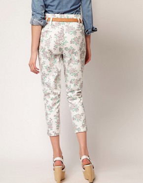 Image 2 ofJohann Earl Floral Print Denim Trousers