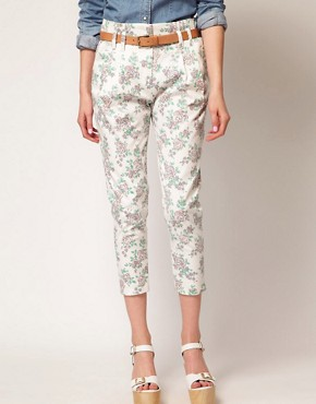 Image 4 ofJohann Earl Floral Print Denim Trousers