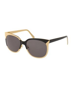 Image 1 ofDanielle Scutt Two Tone Oval Sunglasses