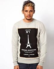 Criminal Damage Sweatshirt With Number One Print