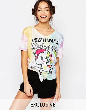Missimo Tokidoki I Wish I Was A Unicorn Pyjama Set
