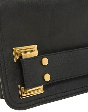 Image 4 ofASOS Chunky Metal Plate Clutch