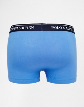 Image 2 ofPolo Ralph Lauren Stretch Cotton 3 Pack Trunks