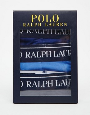 Image 4 ofPolo Ralph Lauren Stretch Cotton 3 Pack Trunks
