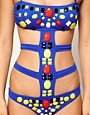 Image 3 ofASOS Cut Out Embellished Swimsuit