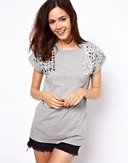 ASOS T-Shirt with Jewel Shoulder