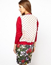 Paul by Paul Smith Cardigan with Polka Dot Back