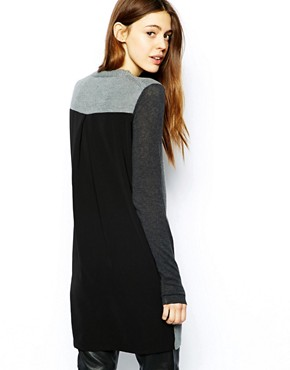 ASOS Jumper Dress with Woven Back