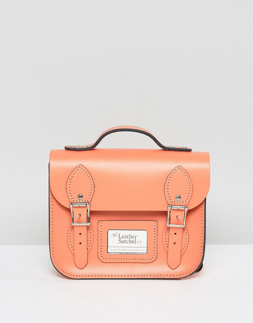 Leather Satchel Mini Festival Backpack - Pink