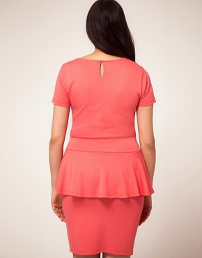 Image 2 ofASOS CURVE Exclusive Dress With Peplum