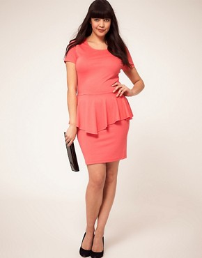 Image 4 ofASOS CURVE Exclusive Dress With Peplum