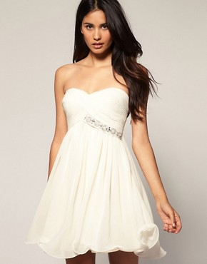Image 1 ofLipsy VIP Embellished Babydoll Skater Dress