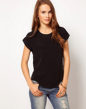 Image 1 ofRiver Island Zip Back T-Shirt