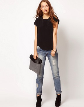 Image 4 ofRiver Island Zip Back T-Shirt