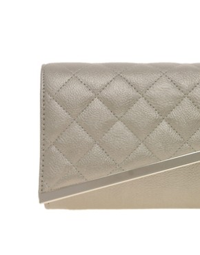 Image 2 ofASOS Quilted Diagonal Clutch