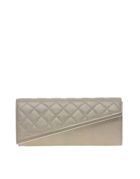 Image 1 ofASOS Quilted Diagonal Clutch