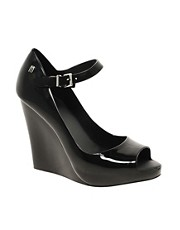 Melissa Prism Peeptoe Wedge Shoes