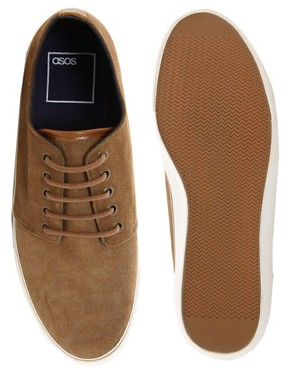 Image 3 ofASOS Plimsolls in Suede