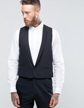 Hart Hollywood by Nick Hart Skinny Waistcoat in Flannel
