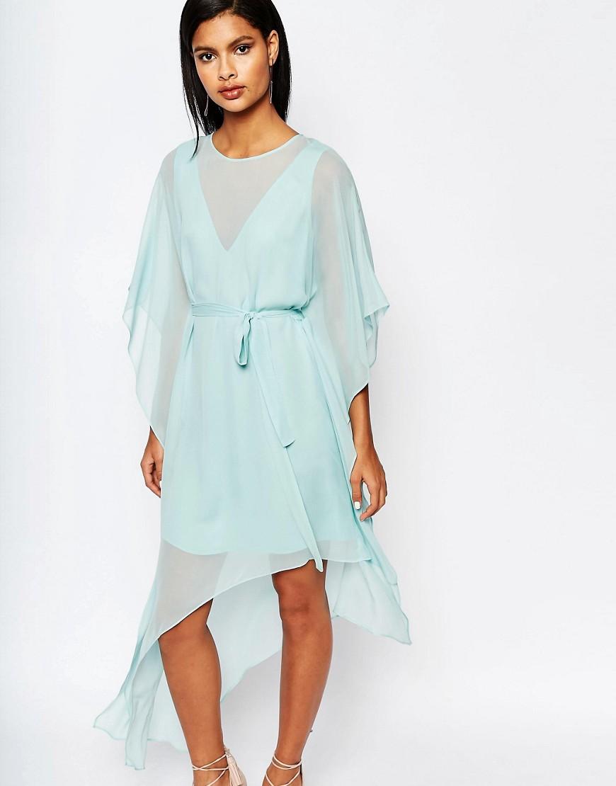 Асимметричное платье мини с оборками BCBGMaxAzria - Зеленый