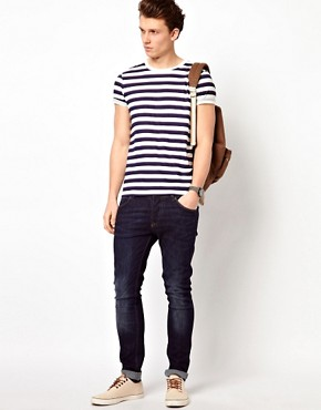 Image 4 of ASOS Stripe T-Shirt With Crew Neck
