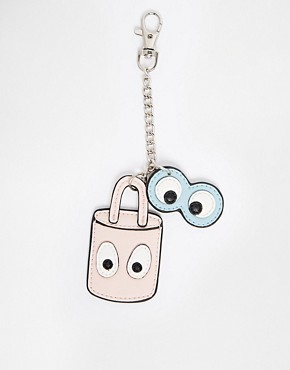 ASOS Lock and Eyes Key Ring