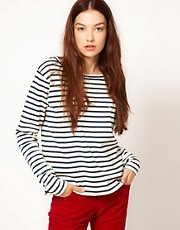 Lacoste Live Long Sleeved Striped Top