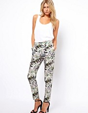 Oasis Floral Tailored Trouser