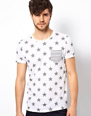 ASOS T-Shirt With All Over Star Print
