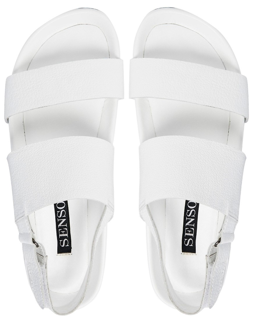 Image 4 of Senso Iggy White Footbed Flat Sandals