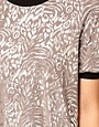 Image 3 ofASOS Top in Metallic Rose Print