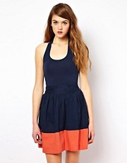 French Connection Halter neck dress With Tied Waist