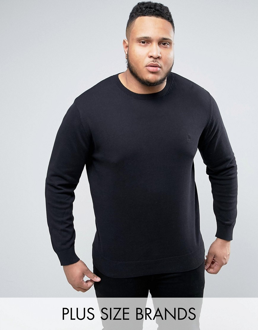 French Connection PLUS Lightweight Crew Neck Jumper - Black