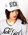 Image 1 of Sick Girl White Snapback Cap