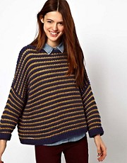 ASOS Swing Jumper In Textured Stripe