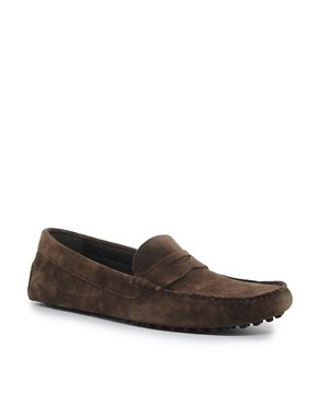 Image 1 ofASOS Penny Drivers in Suede