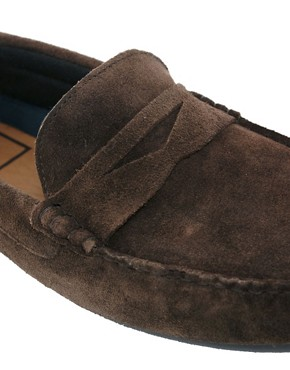 Image 2 ofASOS Penny Drivers in Suede