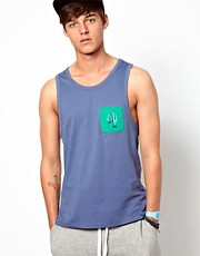 ASOS Vest With Printed Contrast Pocket