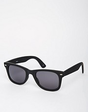 ASOS Matt Black Wayfarer Sunglasses