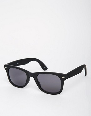 Image 1 ofASOS Matt Black Wayfarer Sunglasses